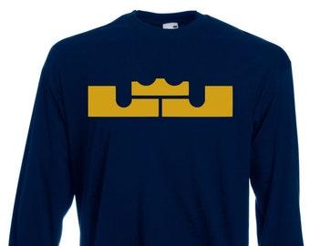 12a8bd9c706 Lebron James 23 Long Sleeve T Shirt Jersey NBA LA Lakers Plus Sizes S-5XL  Tee S1