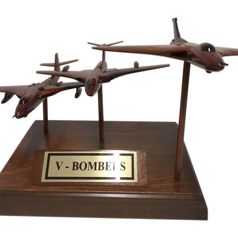 bb576216 British V-Bomber Force Triple Set Wooden Desk Top Model.   Etsy