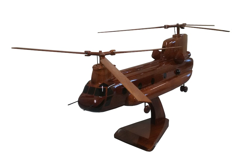 4c8cd801 Boeing Chinook British Army Helicopter Wooden Executive   Etsy