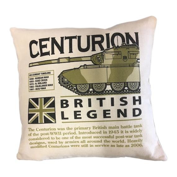 Centurion Main Battle Tank Military T Shirt With Blueprint Design.