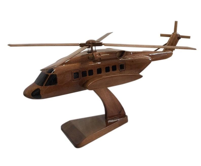 903f6bd6 Sikorsky S 92 Helicopter Wooden Executive Desktop Model   Etsy