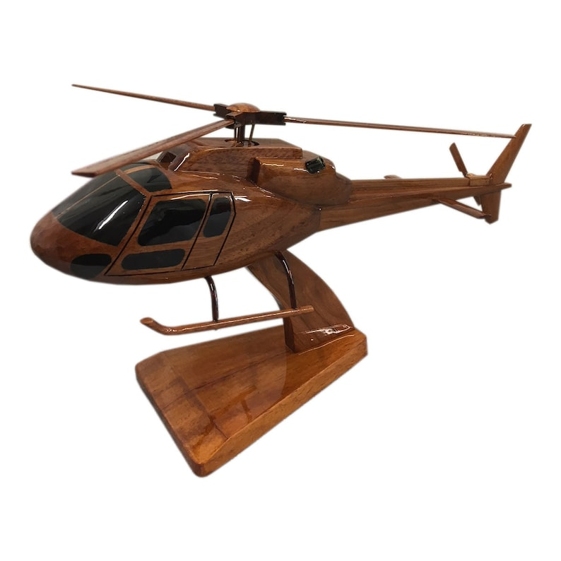 5b3e8a63 Eurocopter AS355 Twin Squirrel Utility Helicopter Wooden   Etsy