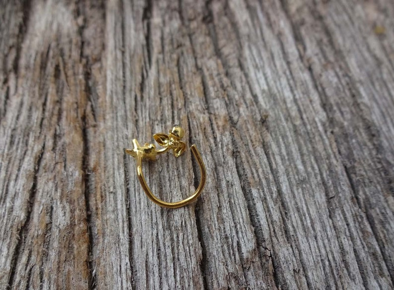 Gold Nose Stud Stainless Steel Nose Stud 14K Gold Nose Ring Nose Stud Indian Nose Ring Star Nose Screw Cabochon Nose Stud Christmas day sale
