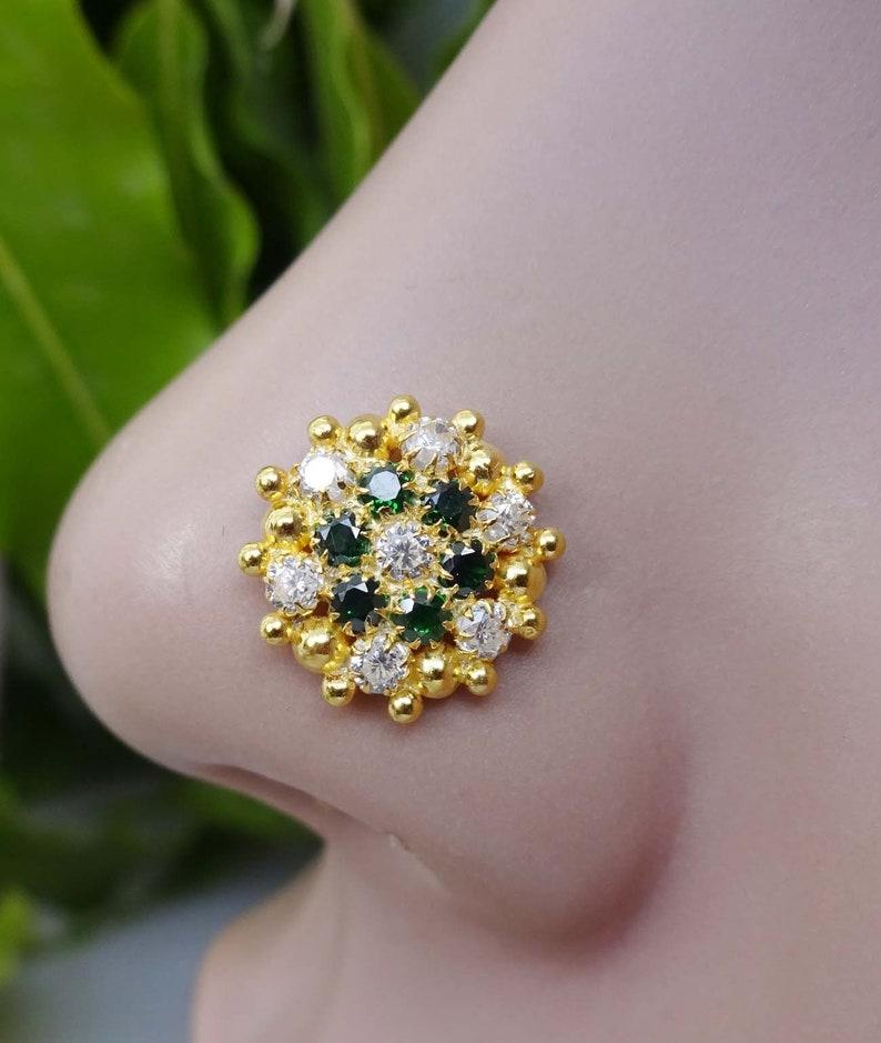 Body Piercing Jewelry Citrine Nose Piercing Gold Nose Stud Gold Nose Piercing Fresh Trend Cz Nose Stud Body Jewelry