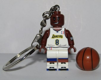 K. Bryant 24  Keychain & Lovely Present Box -  platform added - Basketball player Lakers