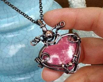 Unique Gift Idea Solid Copper Chain: 16 to 30 LARGE labradorite Pendant QUIVIRA * Multicolor Labradorite Copper Wrapped Pendant