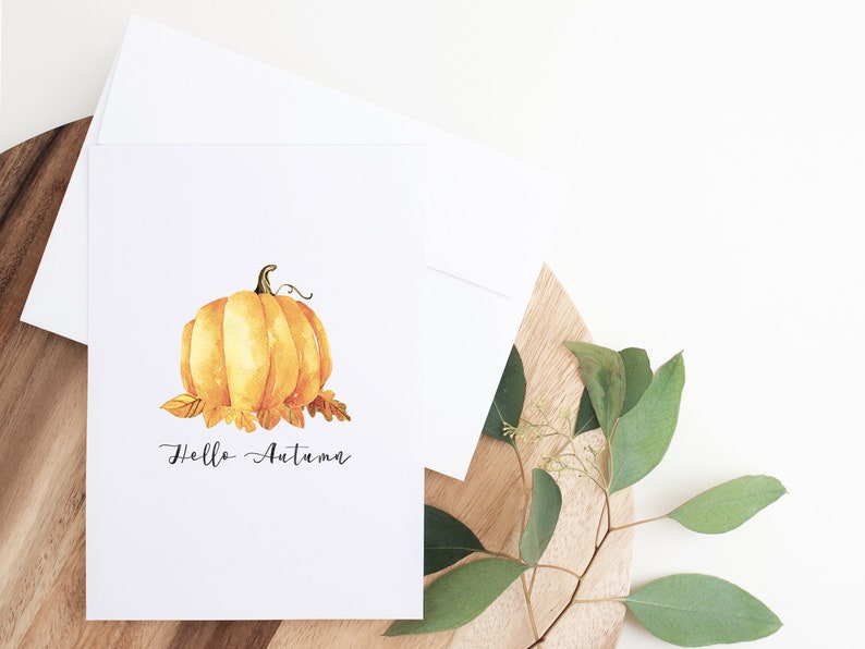 Fall Printable Halloween Print Pumpkin Art Fall Decorations Thanksgiving Decor Autumn Decor Hello Autumn Print Instant Download Art