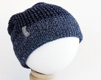 LYSANDE - Reflective Brim Merino Cotton Childrens Knit Hat