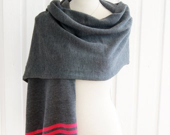 MYSIG - Big Knit Premium Merino Wool Stole Wrap Scarf