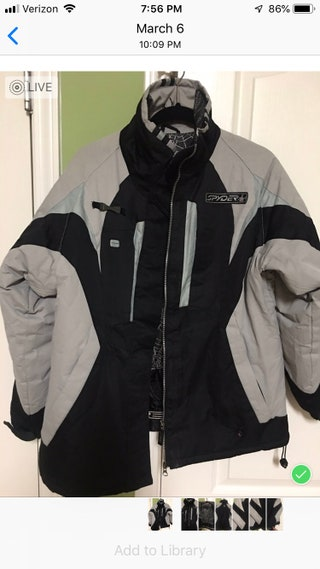 Spyder Ski Jacket:  Womens XL