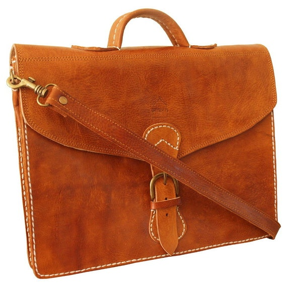 cefb67088cb6 The Marrakech Leather Satchel Tan l Handmade Moroccan leather