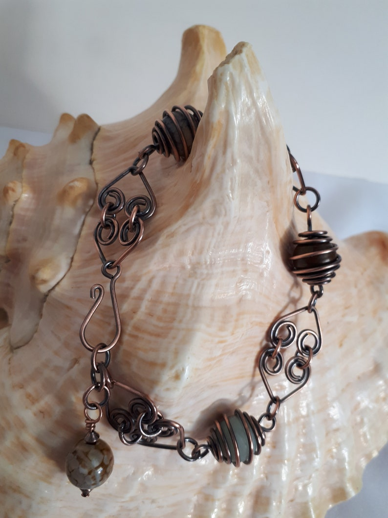Copper and Agate Bracelet