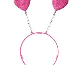 fb52c771 Valentine Pink Plastic Heart Headbopper - Party Hair Accessory