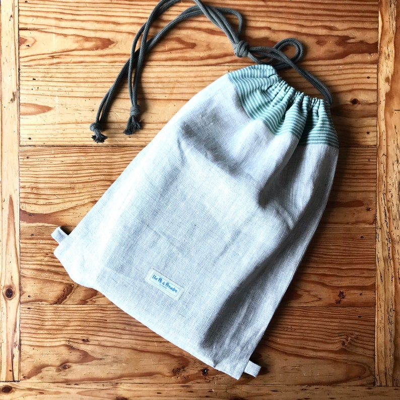 SET of 2 PRODUCE BAGS made of Organic cotton and linen