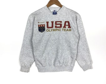 52be98d201a Champion olympic team sweatshirt crewneck spellout jumper pullover gift