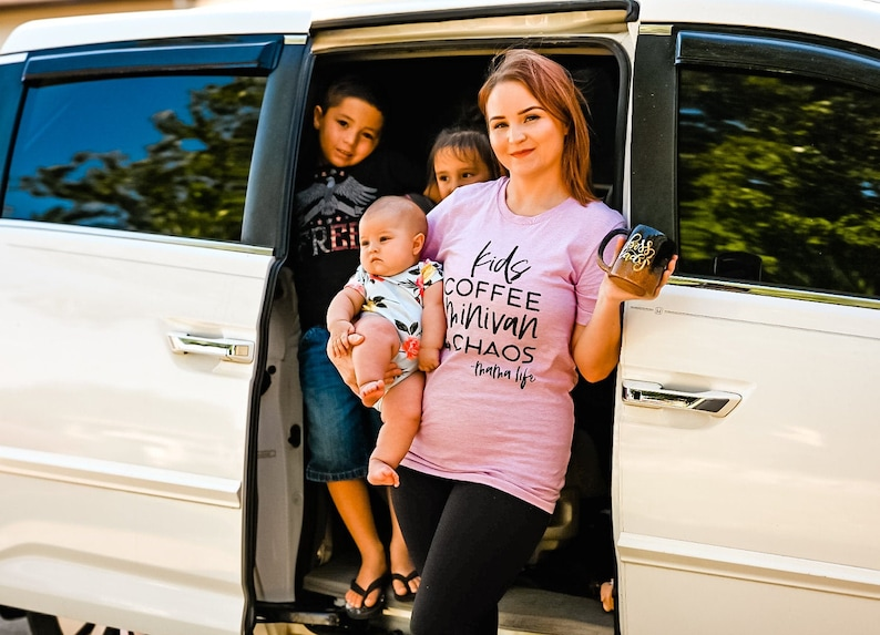Kids Coffee Minivan /& Chaos Tee Ladies T Shirt Mommy T Shirt Funny Tees Ladies T Shirt Mom Tee Ladies Shirt Ladies Graphic Tee