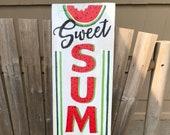 Summertime Watermelon Sign Watermelon Sign Watermelon Decor Summer Sign