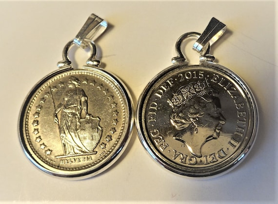Silver plated 18mm Cinch Coin mount