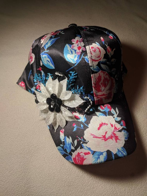 Ladies Embellished Ball Caps Sparkles and Beads Flowers  c1dfd756231