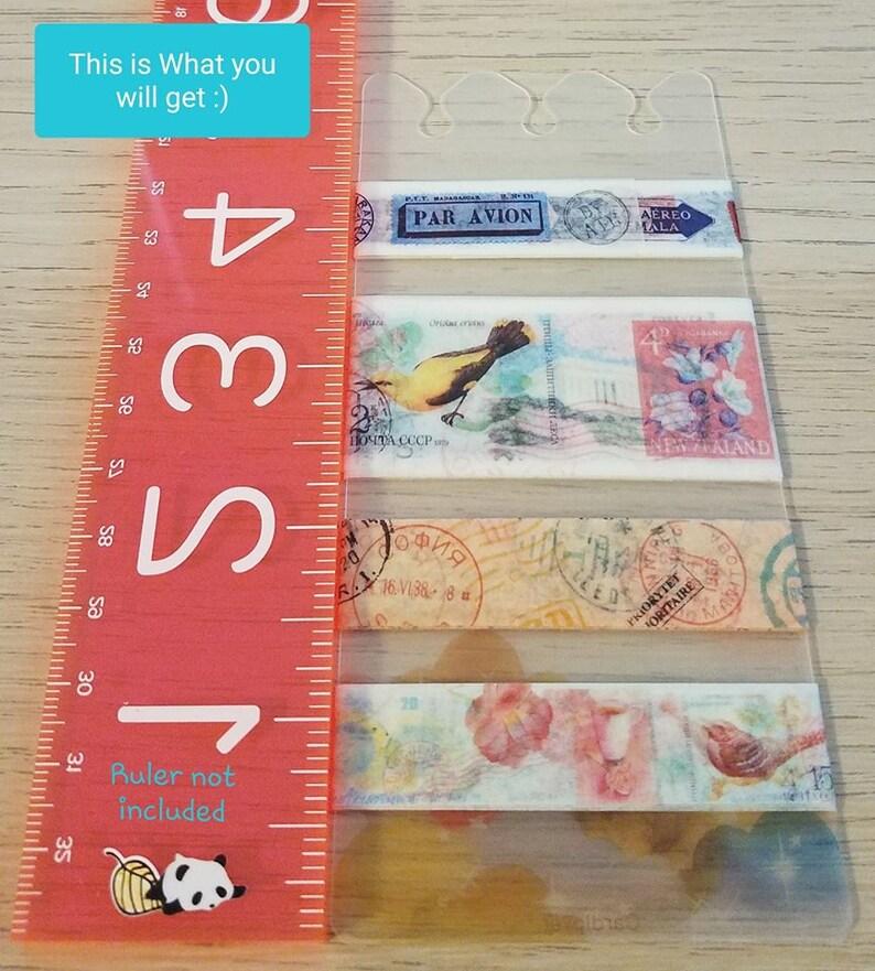 A5 Planner Divider Washi Tape Samples MISS TIME Vintage Travel 36 Each