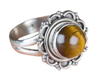 10x14MM Tiger Eye RingSterling Silver 925Handmade JewelryGift For HerMade In USA