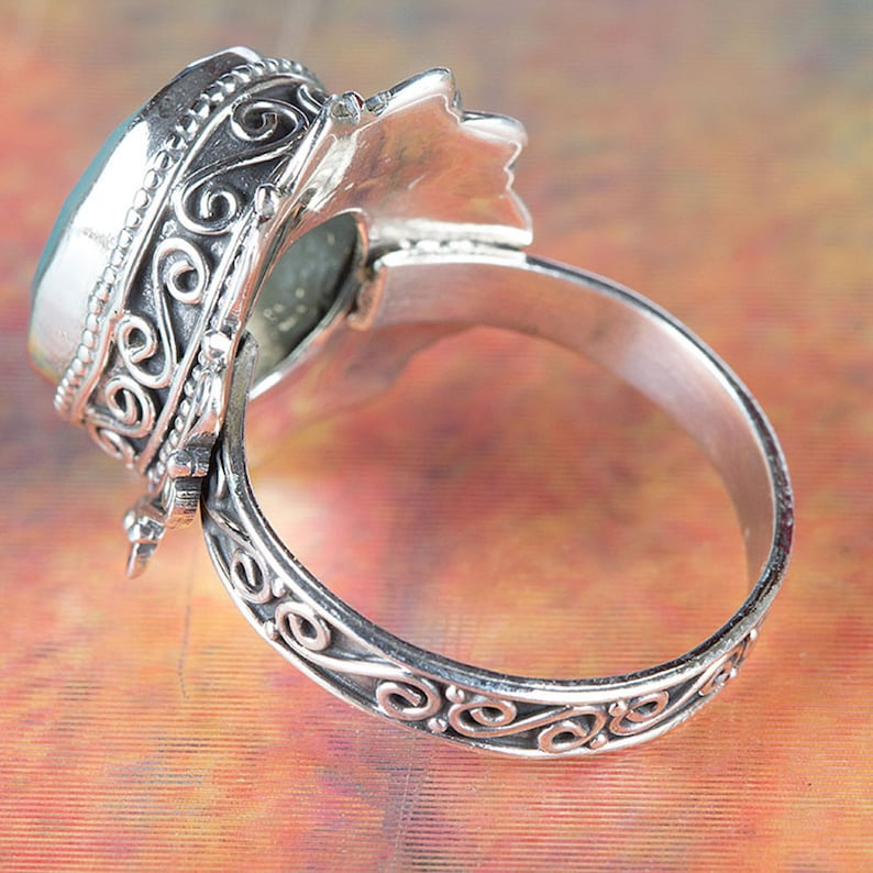 Aqua Chalcedony Ring Silver   Designer  Meditation  Love  Handmade  Jewellery  Unique  Attractive  Engagement  Anniversary Gift.