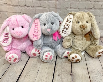Personalized Bunny - Personalized Easter Bunny - Embroidered Bunny - Bunny Stuffed  Animal - Plush Bunnies bc9d9bc56