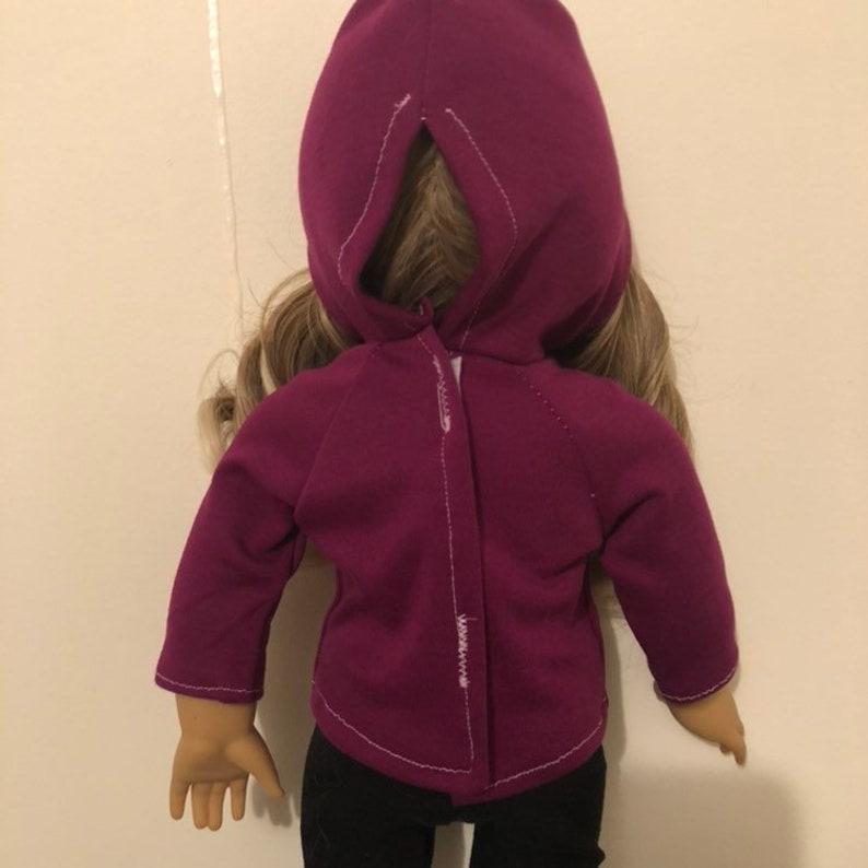 Purple Hoodie Outfit With Black Leggings