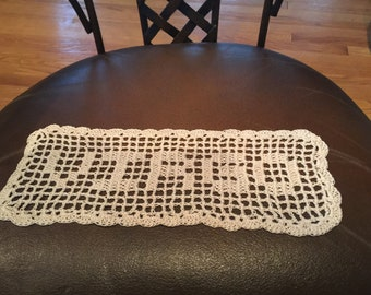 Crocheted Lace Centerpiece in Bright Teal /& Gemstone Colors 14.5 Doily with 12 Points Edging Handmade Cotton Table Conversation Piece