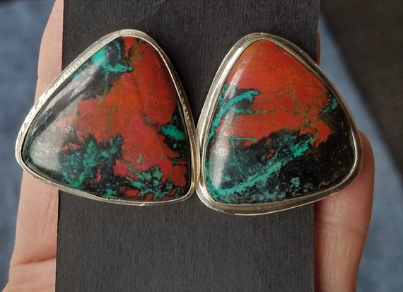 Sonora Sunrise Earrings, Sterling Silver Stud Style, Handcrafted, Native American made Jewelry