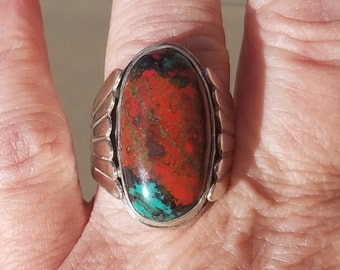 Sonora Sunrise ring size 6 3/4, Sterling Silver Handcrafted Jewelry