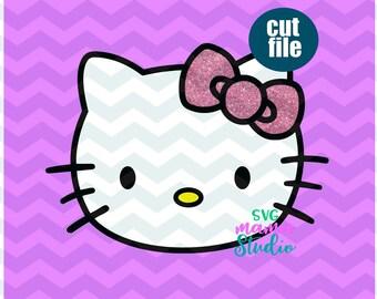 Hello Kitty Svg Etsy