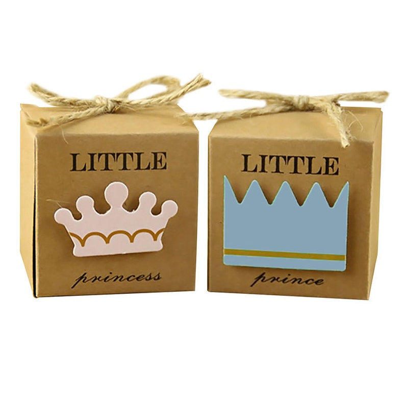 10Pcs Kraft Paper Baby Shower Favor Gift Box Candy Boxes Wedding Party Decor