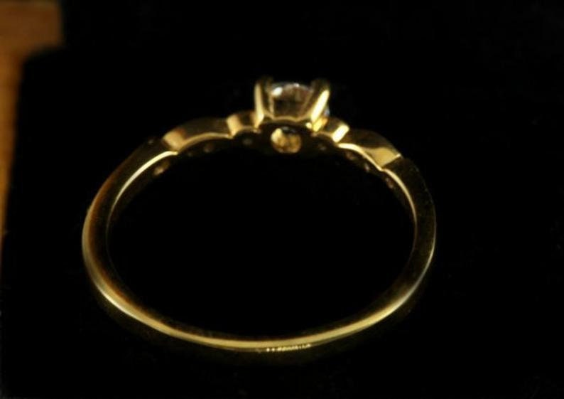14k Solid Gold Marquise Wedding Band Art Deco Vintage Inspired Ring Semi Mount Diamond Engagement Ring Art Deco Marquise Ring