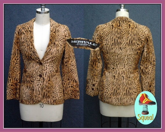 Vintage 1970s Merivale Vintage Faux Fur Animal / L