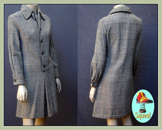 Vintage 1960s Tweed Mod Scooter Dress