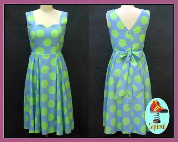 Vintage 1980s Does 1950s Spot Dot Dress