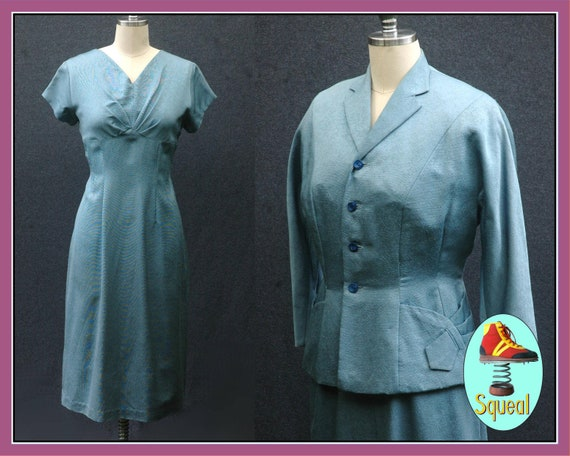 Vintage 1940s Dress and Jacket Set