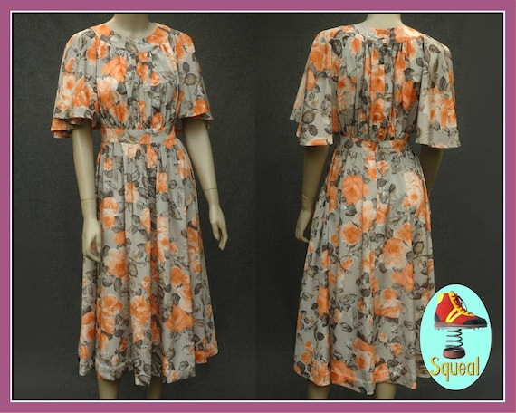Vintage 1970s does 1930s Floral Tea Dress