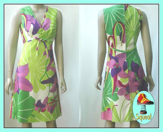Vintage 1960s 1970s Malia Hawaii Dress