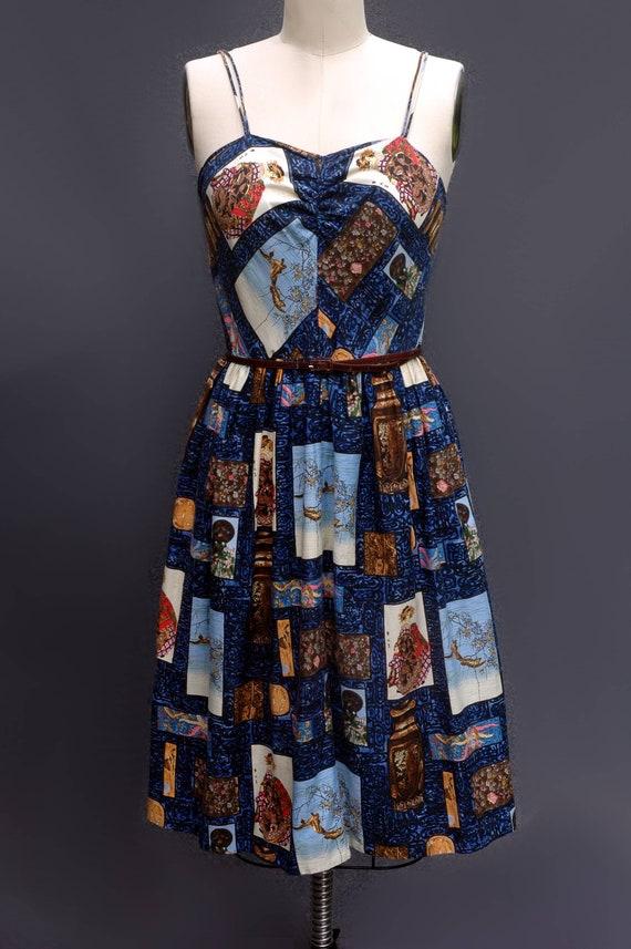 1950s Novelty Print Sundress - image 4