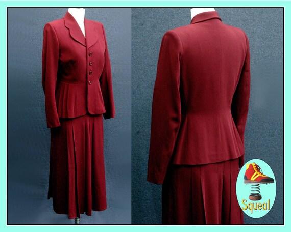 Vintage 1940s Wool Jacket and Skirt Set