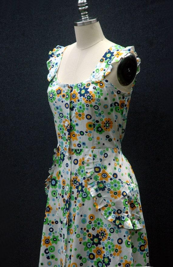 Vintage 60s does 40s Floral Dress - image 8