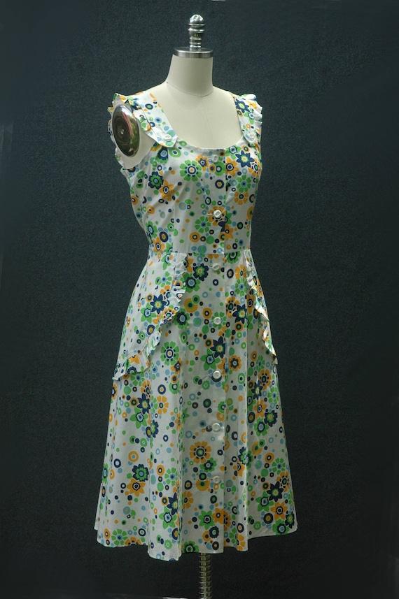 Vintage 60s does 40s Floral Dress - image 3