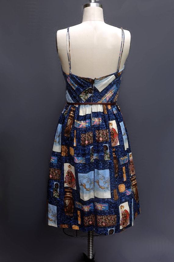 1950s Novelty Print Sundress - image 5