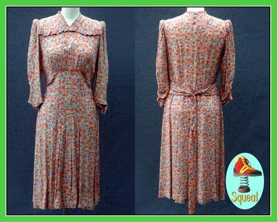Vintage 1930s Floral Dress