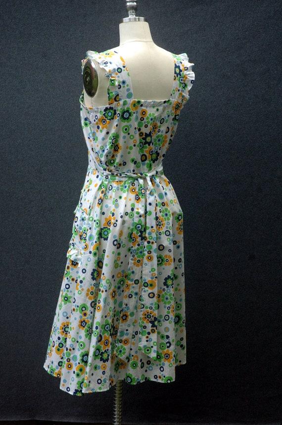 Vintage 60s does 40s Floral Dress - image 5
