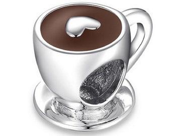 pandora charm coffee cup