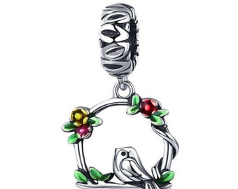 91aa6bb09 925 Silver Herald Of Spring Bird Cage Charm, 100% sterling silver, fit for  Authentic pandora Charm, Authentic Sterling Silver,