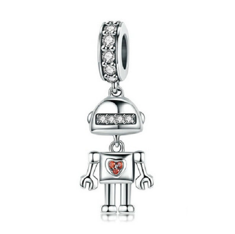 36abded78 Childhood Robot Cute Charm 100% sterling silver Fit Pandora | Etsy